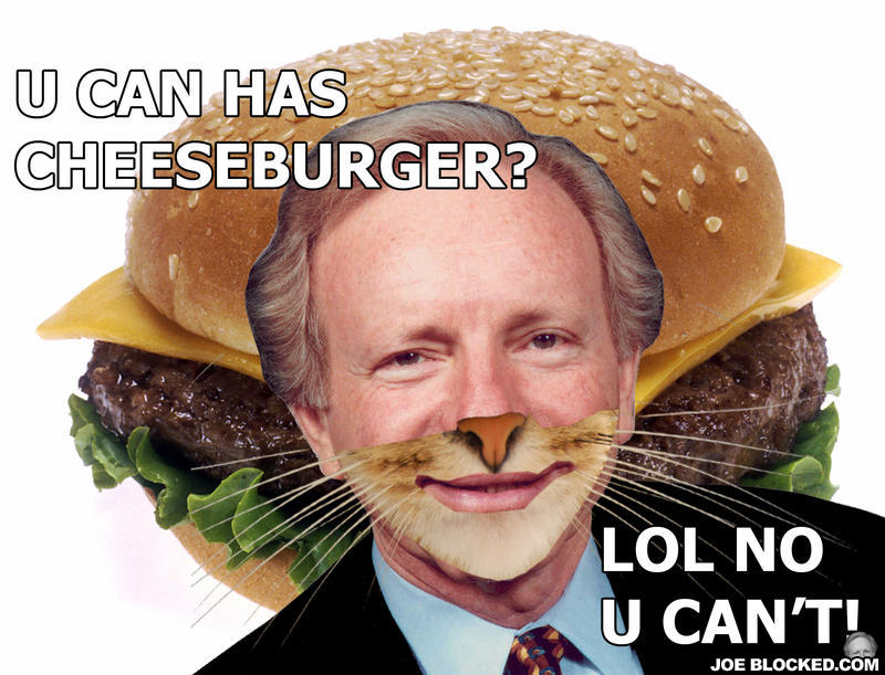 Lieberman cheeseburger